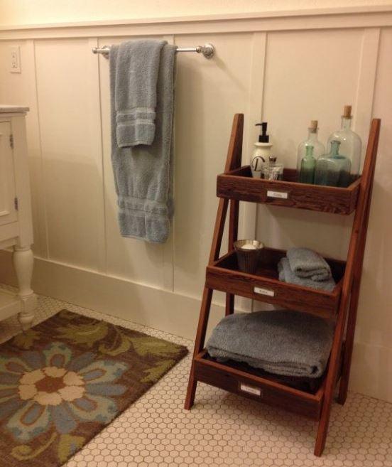 bath towel storage ideas