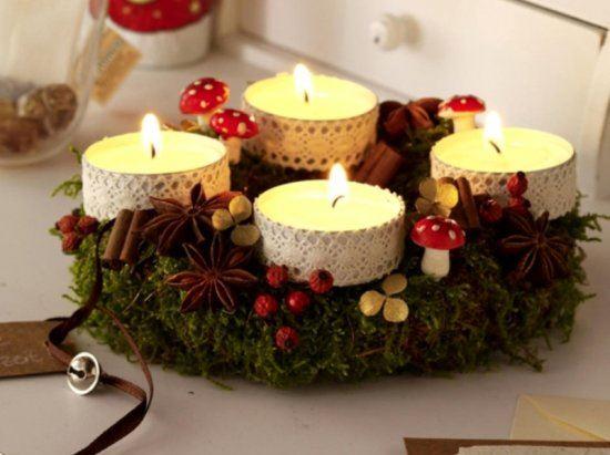 Christmas candle decoration ideas 4