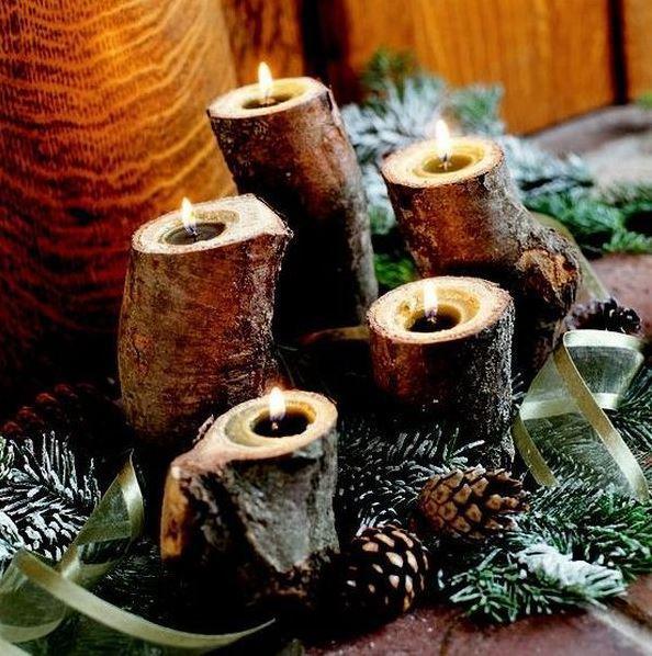 Christmas candle decoration ideas 2