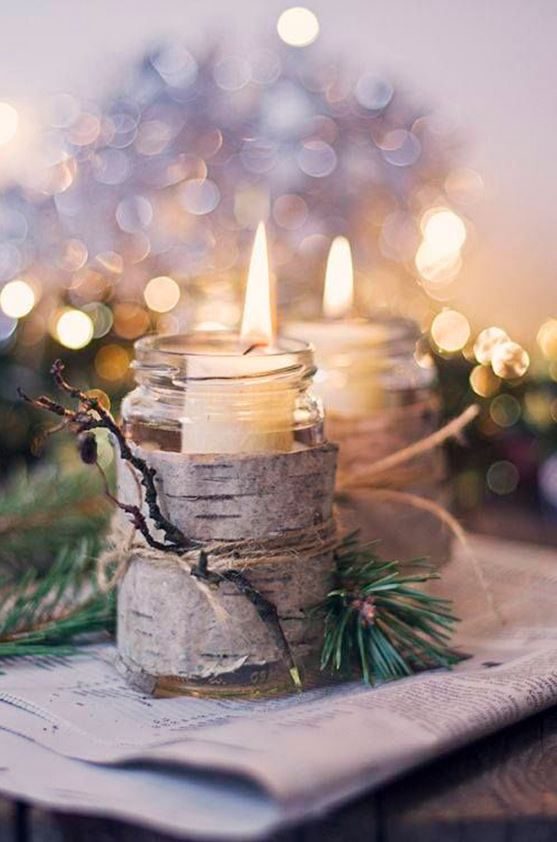 Christmas candle decoration ideas 3