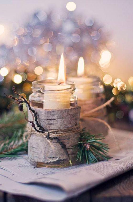 Christmas candle decoration ideas 3