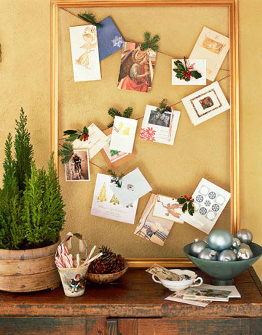 create a christmas card display 1