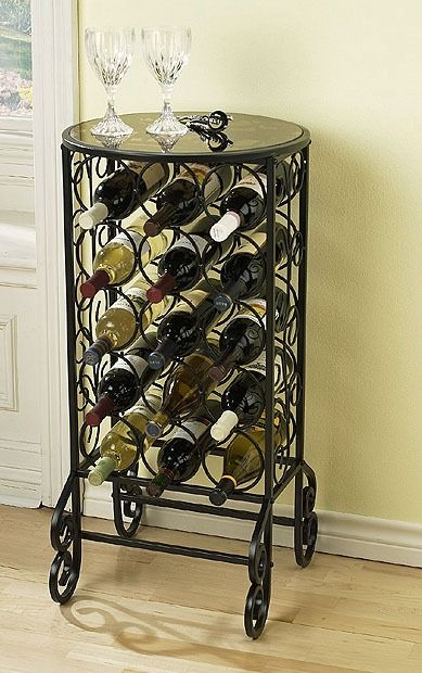 15-Bottle-Wine-Rack-Furniture-for-Home-Mini-Bars-Design-Inspiration