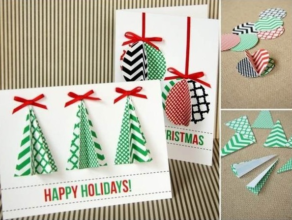 how to make beautiful christmas cards