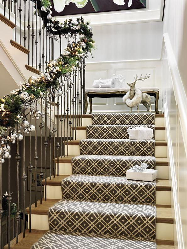 How To Decorate A Staircase For Christmas Little Piece Of Me
