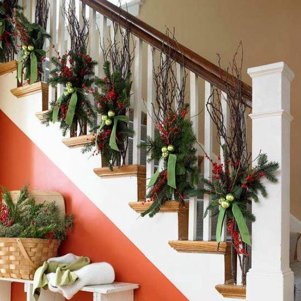 Christmas stairs decoration 2
