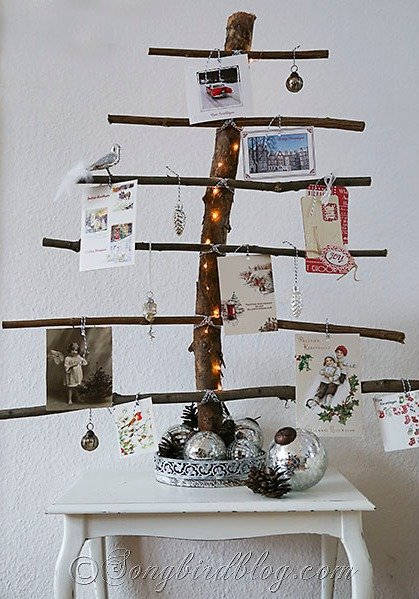 wood greeting card display