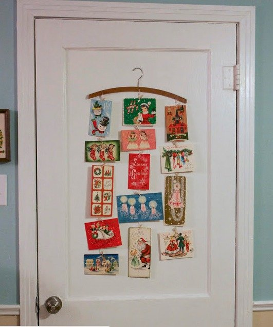 create a christmas card display