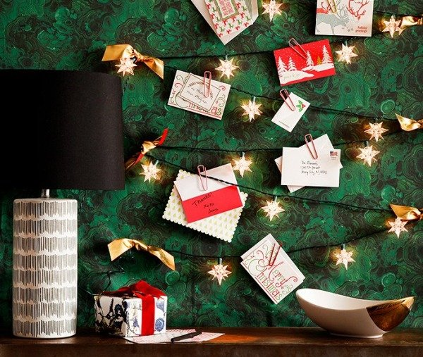 make a christmas card display
