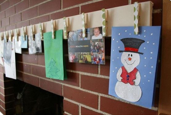 christmas card display craft 2