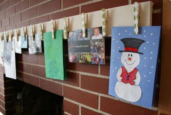 christmas card display craft 2