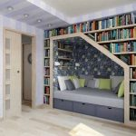 Shelves above bed