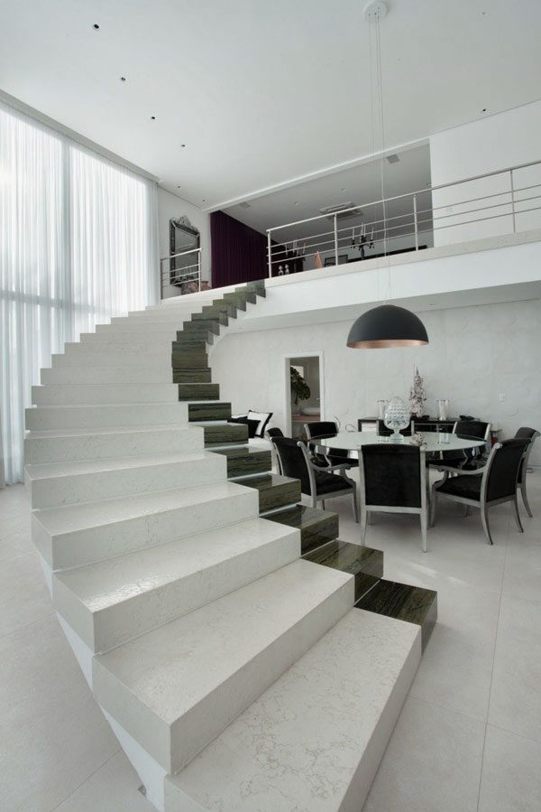 interior-modern-concrete-staircase-design-ideas-with-white-marble-and-black-accent-without-handrails-inspirational-staircase-design-2014-for-your-home