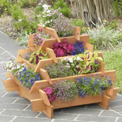 wooden flower pots designs