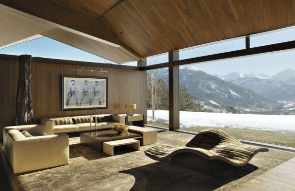 Cozy-Living-Room-Design-Open-to-Outside-with-Glass-Wall-at-Wildcat-Ridge-Residence-Lightened-Naturally-by-the-Sun