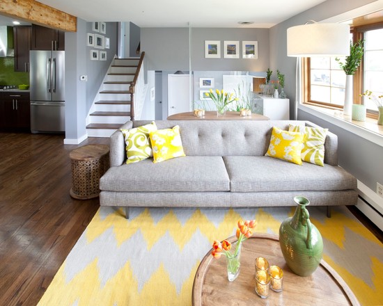 12 gray and yellow living room ideas little piece of me for Yellow and gray living room ideas