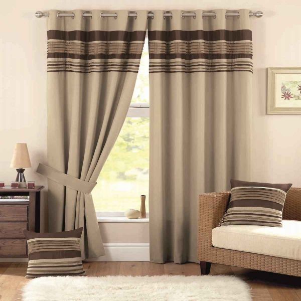 brown-curtain-and-drapes