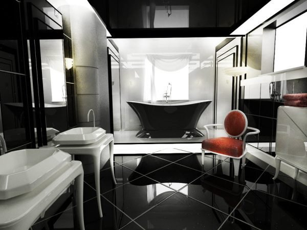 art deco bathroom design