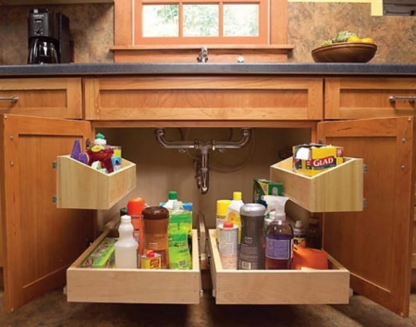 Diy home organization ideas littlepieceofme for Cheap kitchen storage ideas