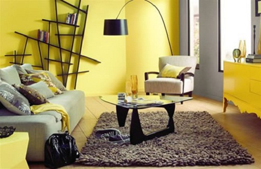 12 gray and yellow living room ideas little piece of me for Living room yellow accents