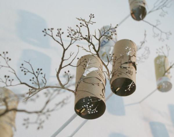 Wall art with toilet paper rolls - Little Piece Of Me