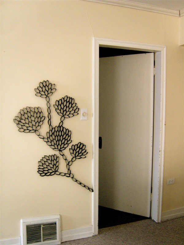 Wall Art Made Room Toilet Paper Rolls