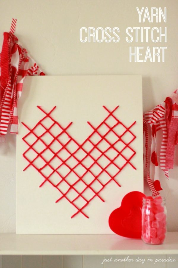 Yarn-Cross-Stitch-Heart