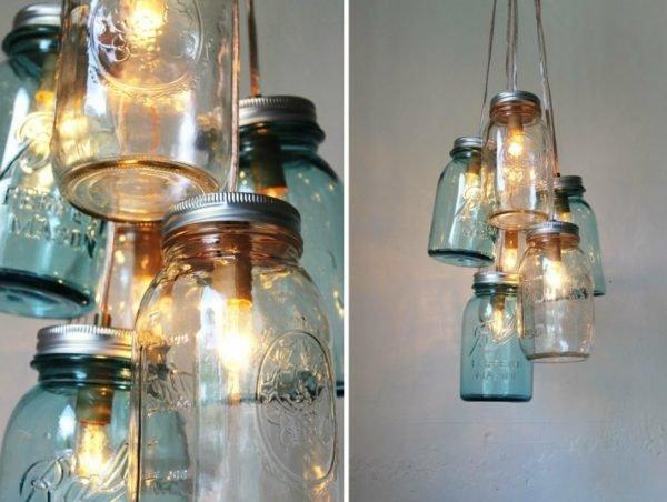 ... Creative DIY Lighting Ideas.  Romantic Vintage Weddings Chandeliers With Mason Jars
