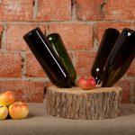 DIY wine storage shelves