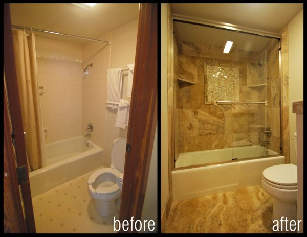 Bath remodel ideas little piece of me for Bathroom remodels for small bathrooms