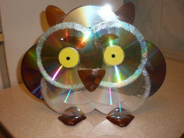 Детские поделки из дисков сд своими руками фото