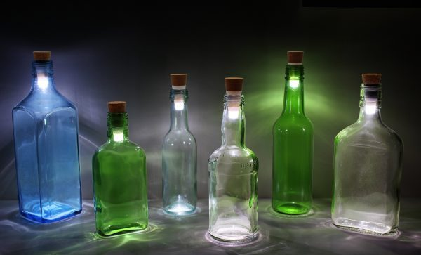 Diy wine bottle lamp littlepieceofme for How to make wine bottle lights
