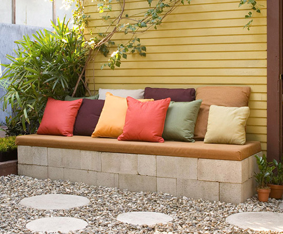 homemade garden furniture