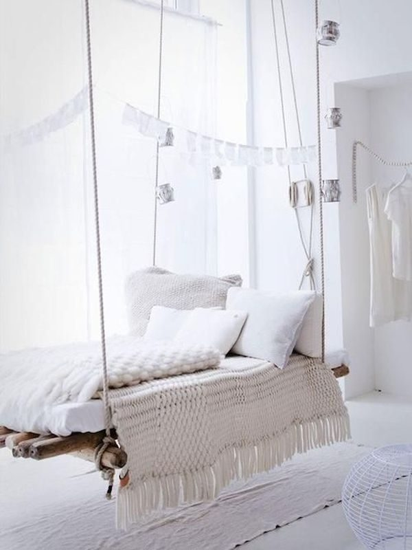 diy hanging bed