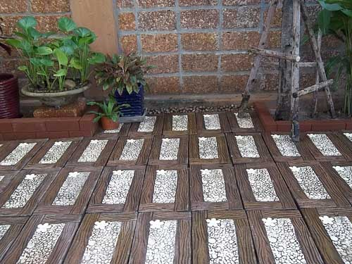 inexpensive garden path ideas