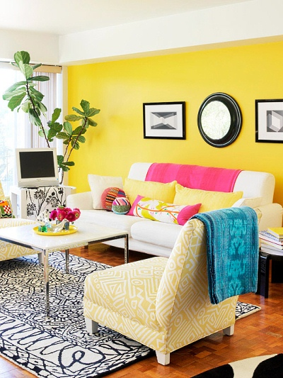 bright colors for living room