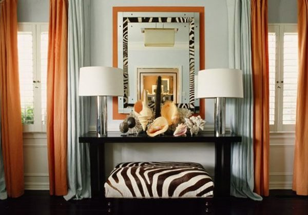 zebra print home decor
