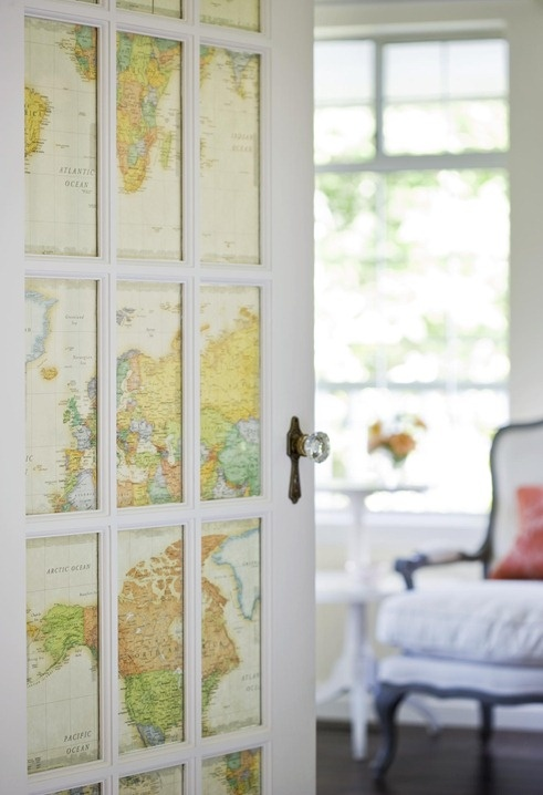 world map decorating ideas