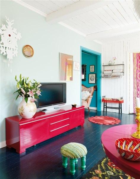 multi color living room
