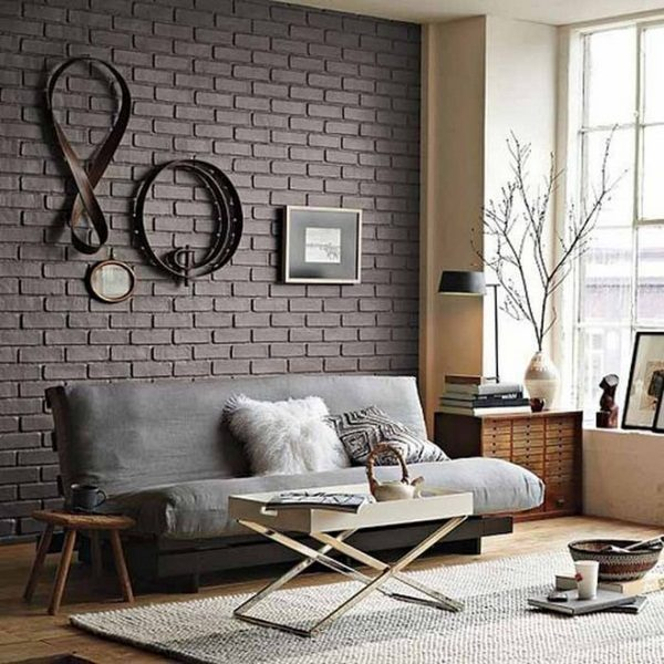 How to decorate a brick wall
