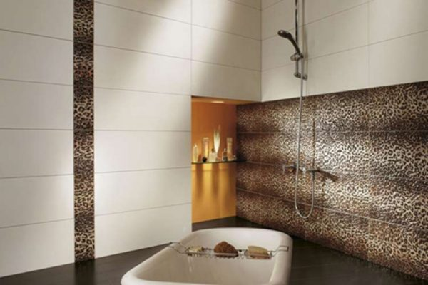 leopard print bathroom