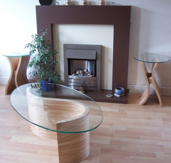 wood and glass coffee tables