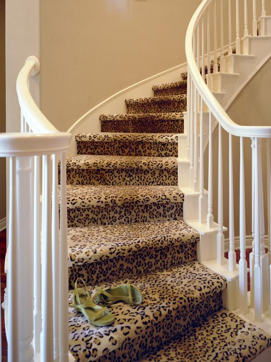 leopard print carpet for stairs