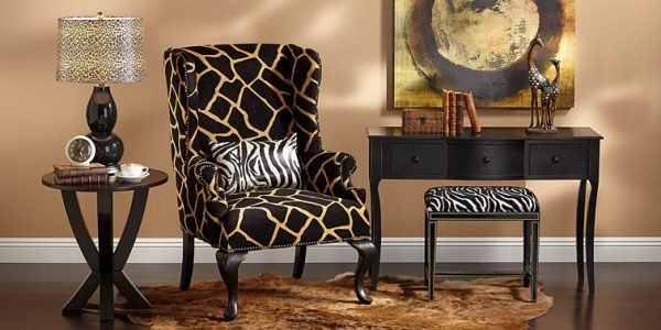 Animal print home decor little piece of me for Animal print furniture home decor