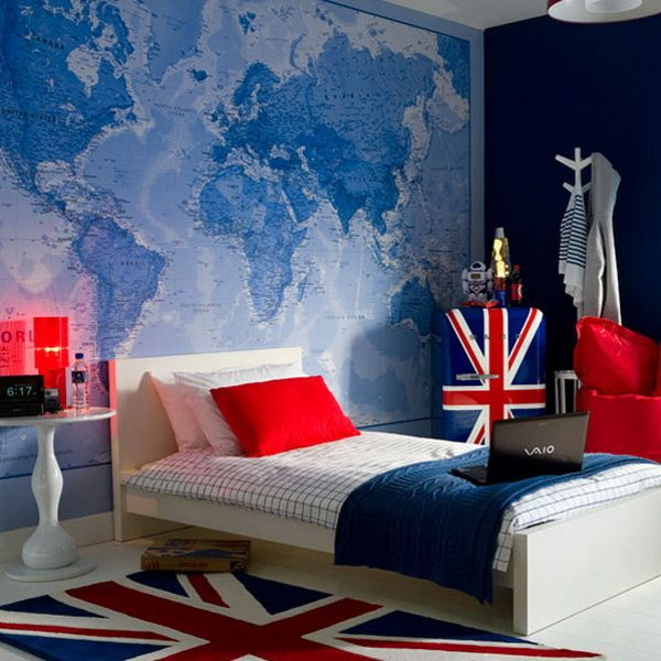 world map room decor