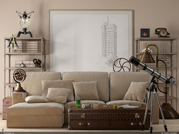 industrial living room decor