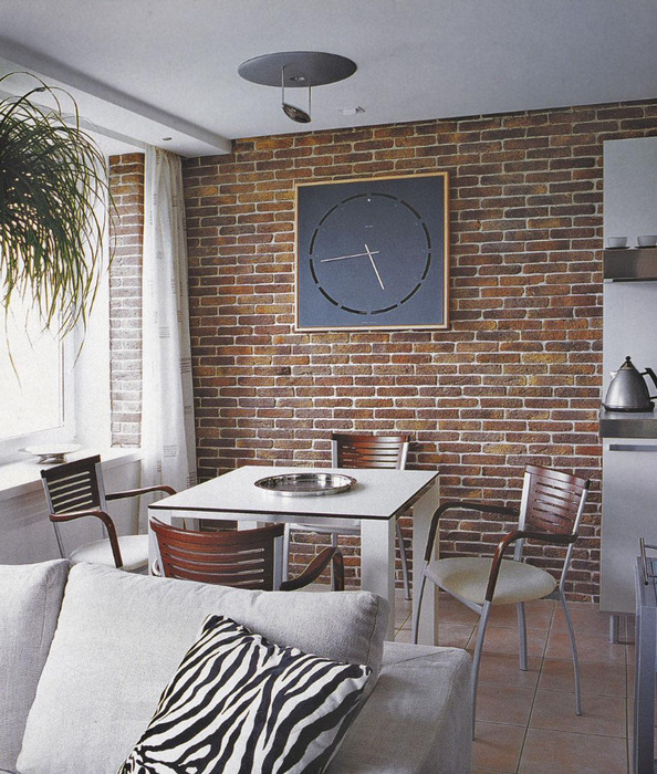 indoor brick wall