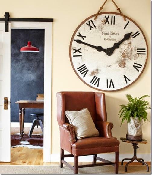 rustic large wall clock