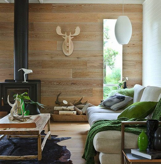wood flooring on walls