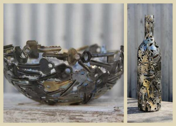 crafts using old keys